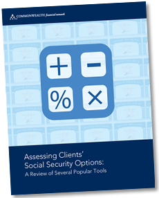 Assessing Clients' Social Security Options: A Review of Several Popular Tools.